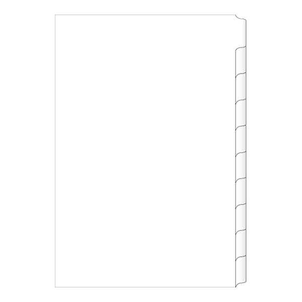 photo relating to Printable Tab Dividers named A4 Laser Printable 10 Tab Dividers